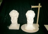 Capesthorne Hall, completed stone busts.