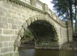 Completed restoration of Claughton Hall Bridge.