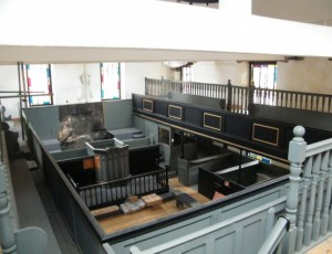 George Street Chapel gallery with organ removed for restoration.